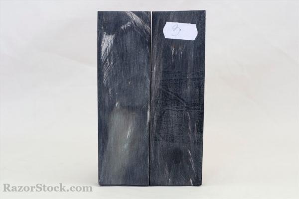 Черный с белыми полосками рог буйвола 3. Пластины 130*40*12