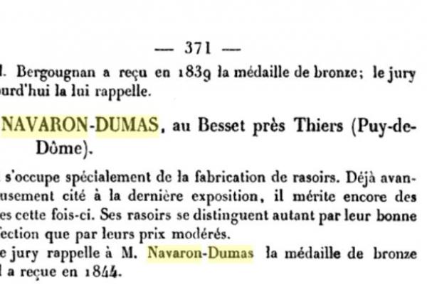 Опасная бритва Navaron Dumas. Франция