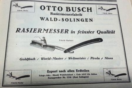 Опасная бритва Otto Busch. Германия.