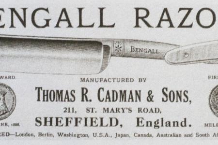 Опасная бритва Bengall Cast Steel 7. Англия.